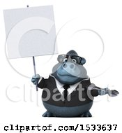 Clipart Of A 3d Business Gorilla Holding A Wrench On A White Background Royalty Free Illustration