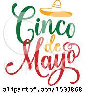 Clipart Of A Cindo De Mayo Design With A Sombrero Royalty Free Vector Illustration by Vector Tradition SM