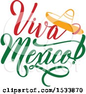 Clipart Of A Cindo De Mayo Viva Mexico Design With A Sombrero Royalty Free Vector Illustration by Vector Tradition SM