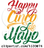 Clipart Of A Happy Cindo De Mayo Design Royalty Free Vector Illustration by Vector Tradition SM