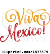 Clipart Of A Cindo De Mayo Viva Mexico Design Royalty Free Vector Illustration by Vector Tradition SM