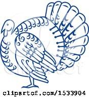 Paper Cut Styled Turkey Bird