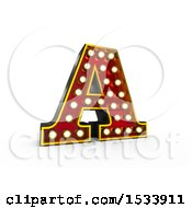 3d Illuminated Theater Styled Vintage Letter A On A White Background