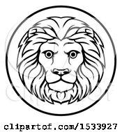 Poster, Art Print Of Black And White Zodiac Horoscope Astrology Leo Lion Circle Design