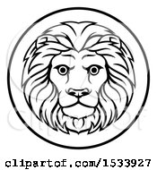 Black And White Zodiac Horoscope Astrology Leo Lion Circle Design