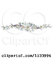 Poster, Art Print Of Border Of White Spring Blossoms