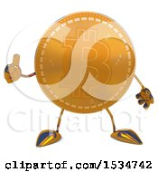 Clipart Of A Bitcoin Mascot Giving A Thumb Up On A White Background Royalty Free Illustration by Julos