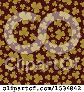 Clipart Of A Seamless St Patricks Day Clover Pattern Background Royalty Free Vector Illustration