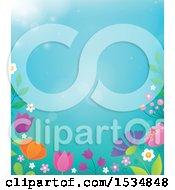 Poster, Art Print Of Spring Flower Border