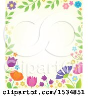 Clipart Of A Spring Flower Border Royalty Free Vector Illustration