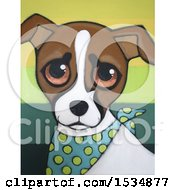 Clipart Of A Painting Of A Jack Russell Terrier Dog Royalty Free Illustration