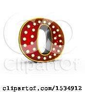 Clipart Of A 3d Illuminated Theater Styled Vintage Letter O On A White Background Royalty Free Illustration