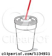 Fast Food Fountain Soda Cup