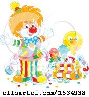 Party Clown With A Bag