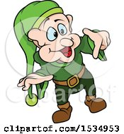 Clipart Of A Dwarf Royalty Free Vector Illustration