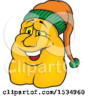 Clipart Of A Bambuler Wearing A Hat Royalty Free Vector Illustration