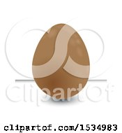 Clipart Of A 3d Chocolate Easter Egg On A White Background Royalty Free Vector Illustration