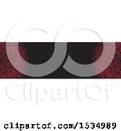 Clipart Of A Red And Black Mandala Banner Royalty Free Vector Illustration
