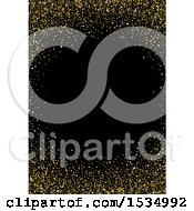 Background Of Gold Stars Forming A Frame On Black