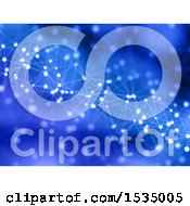 Clipart Of A Blue Background Of Connections Royalty Free Illustration
