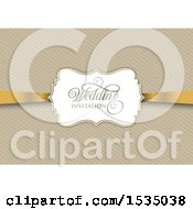 Vintage Styled Cardboard Background With Wedding Invitation Text