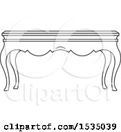 Black And White Coffee Table With Cabriole Legs