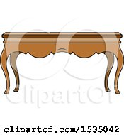 Clipart Of A Coffee Table With Cabriole Legs Royalty Free Vector Illustration