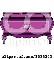 Clipart Of A Purple Box Or Table With Cabriole Legs Royalty Free Vector Illustration by Lal Perera