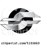 Clipart Of A Black And Silver Design Royalty Free Vector Illustration