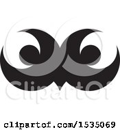 Clipart Of Black And White Owl Eyes Royalty Free Vector Illustration