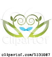 Clipart Of A Floral Design Royalty Free Vector Illustration by Lal Perera