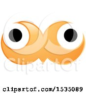 Clipart Of Orange Owl Eyes Royalty Free Vector Illustration