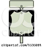 Clipart Of A Shield Road Sign Royalty Free Vector Illustration