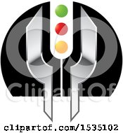Clipart Of A Light Signal Design Royalty Free Vector Illustration