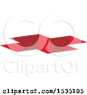 Clipart Of A Red Cross Hole Royalty Free Vector Illustration