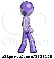 March 16th, 2018: Purple Design Mascot Woman Turned Right Front View by Leo Blanchette