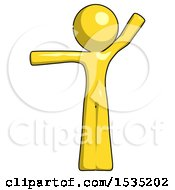 March 16th, 2018: Yellow Design Mascot Man Directing Traffic Left by Leo Blanchette