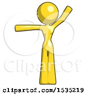 March 16th, 2018: Yellow Design Mascot Woman Directing Traffic Left by Leo Blanchette