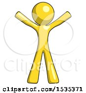 March 17th, 2018: Yellow Design Mascot Man Surprise Pose Arms And Legs Out by Leo Blanchette