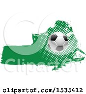 Grungy Green Soccer Ball Design