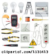 Poster, Art Print Of Electrical Tools And Items
