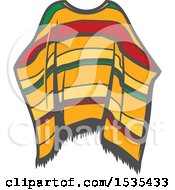 Clipart Of A Poncho In Retro Style Royalty Free Vector Illustration by Vector Tradition SM
