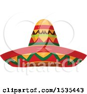 Clipart Of A Sombrero Hat Royalty Free Vector Illustration by Vector Tradition SM