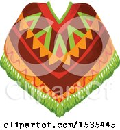 Clipart Of A Poncho Royalty Free Vector Illustration by Vector Tradition SM