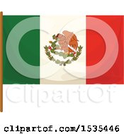 Clipart Of A Mexico Flag Royalty Free Vector Illustration by Vector Tradition SM