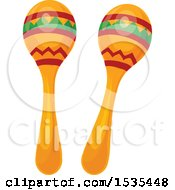 Clipart Of Maracas Royalty Free Vector Illustration