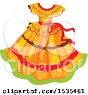 Clipart Of A Mexican Dress Royalty Free Vector Illustration
