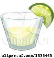 Clipart Of A Margarita Royalty Free Vector Illustration
