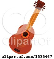Clipart Of A Guitar Royalty Free Vector Illustration