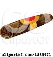 Clipart Of A Cigar Royalty Free Vector Illustration